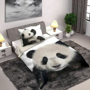 Sauvage-Collection-Panda-Set-Housse-de-Couette-Simple-Photo-Design-Imprime-100