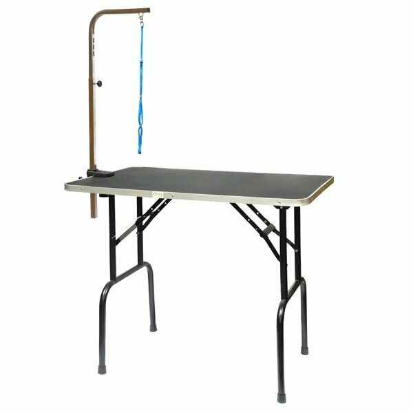 Dog Puppy Grooming Table with Arm Controls Movement Skid Free Maximum Comfort