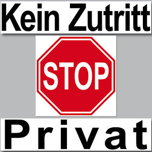 3 aufkleber set sticker kein zutritt stop privat schild arzt praxis t r hinweis ebay. Black Bedroom Furniture Sets. Home Design Ideas