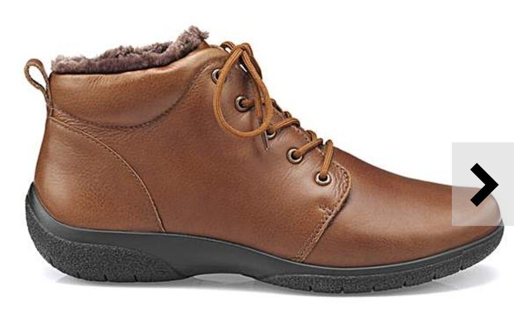 Hotter Womens Dark Tan Ellery Ankle Boots Uk Size 7 STD