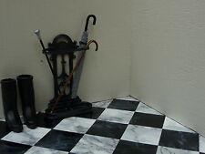 """100 Marble-esque 1:12th 1"""" BLACK & DARK VEINED WHITE Dolls House Floor Tiles"""