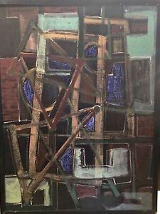 Ben-Wilson-1913-2001-American-Oil-Painting-Estate-Stamp-1989-Title-Exodus