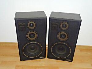 2x-Kenwood-s233-vintage-haut-parleurs-stereo-Noir-2-ans-de-garantie
