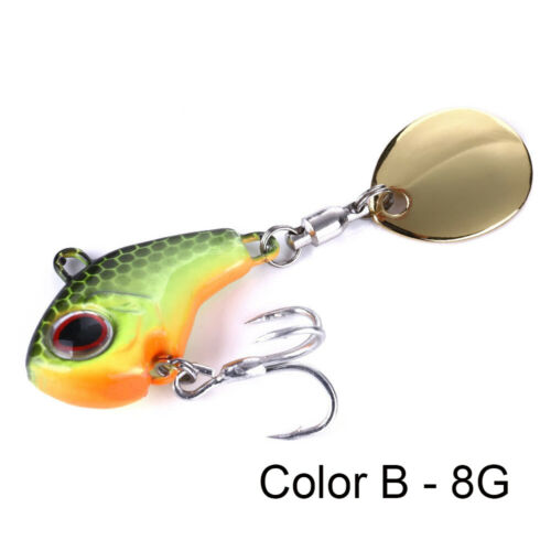 Metal Mini VIB With Spoon Fishing Lure Fishing Tackle Pin Wobblers Crankbait