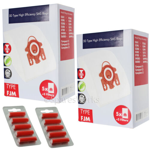 frais 10 x 3D type HYCLEAN pour aspirateur Miele Fjm Hoover Sacs Pour Miele S4000 S4 S4812 vide