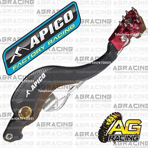 Apico-Black-Red-Rear-Brake-Pedal-Lever-For-Honda-CRF-250R-2010-Motocross-Enduro