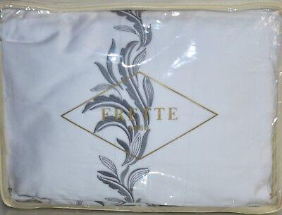 $1650 Neu Frette Zenith Ricamo Balconnet Blatt-satz Schein Bestickt Weiß Blau GläNzend