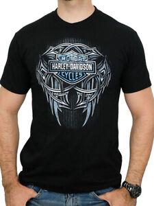 Harley-Davidson-Mens-Gravel-Slinger-Tribal-Logo-Black-Short-Sleeve-T-Shirt