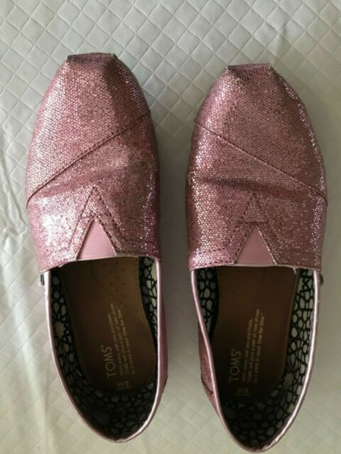 Toms Womens Classic Candy Cane Glitter