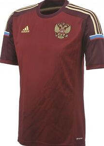 Details about Adidas RFU H JSY Y Jersey Children Russia team 2014 Russia Shirt show original title