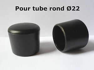 4 bouchons embouts enveloppant pour tube rond pied de for Chaise pied rond