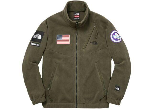 7927e1e9b Supreme x The North Face Trans Antarctica Expedition fleece olive large new