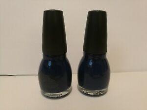 Sinful-Colors-URBAN-PUNK-Nail-Polish-Lot-Of-2-NAVY-I-DO-Dark-Navy-Blue