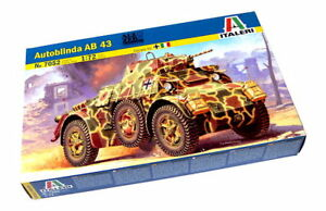 ITALERI-Military-Model-1-72-Autoblinda-AB-43-Scale-Hobby-7052-T7052