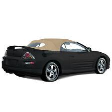 Mitsubishi Eclipse 2000-2005 Convertible Soft Top & Glass window Tan Twill