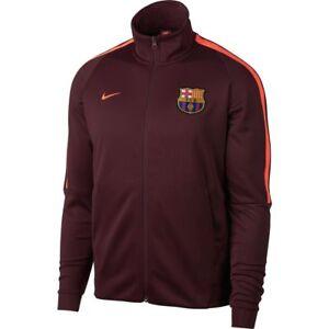 Nike FC Barcelona 2017 - 2018 Soccer LU Anthem Jacket Burgundy ... 3b590891e