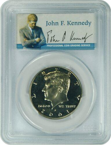 2001-S PCGS PR69DCAM Kennedy Half Dollar Presidential Label