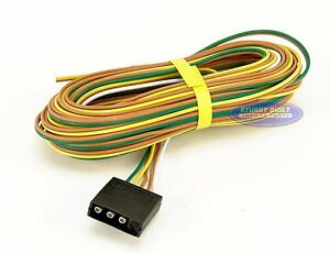 boat trailer light wiring harness standard 4 flat 35 ft long image is loading boat trailer light wiring harness standard 4 flat
