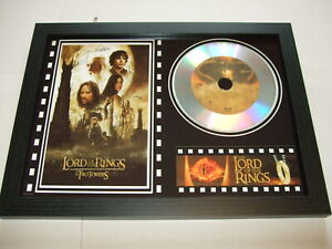 LORD OF THE RINGS  SIGNED  framed silver disc film display