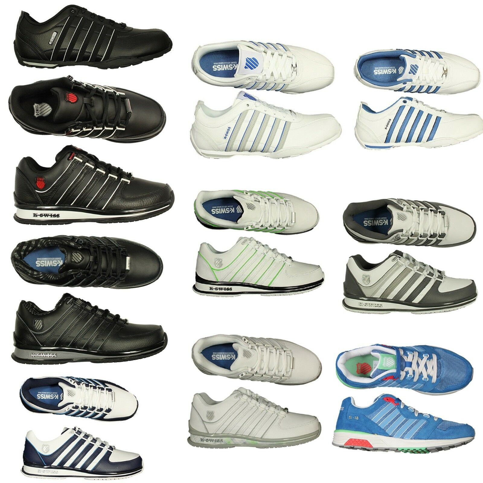 Brand New Rinzler  Mens K Swiss Trainers Leather Formal Lace Up schuhe Größe 7-12
