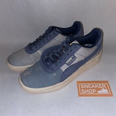 Puma Mens California Shoes Denim Dark Vintage Distressed Blue Size 8  (369933-01) | eBay