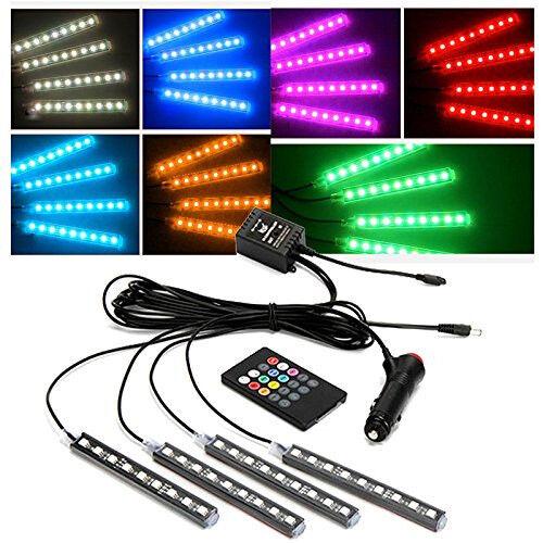 7Color Choose//Change Car 12LED Neon Light Underdash Lighting Kit Atmosphere Lamp