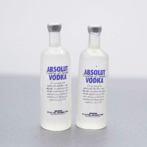 Custom 2 x 1//12 Scale Vodka Alcohol Bottle for 12/'/' Hot Toys Figure Use
