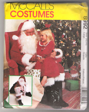 Sizes S-L McCalls M5550 Womens and Mens Santa Claus Christmas Costume Sewing Pattern