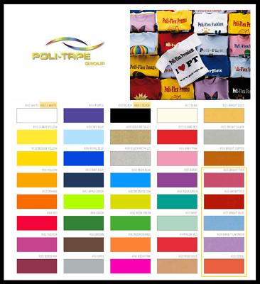 (27,50€/m²) Poli-flex Turbo 30cm X 20cm (din A4) - Flexfolie Textilfolie Taille Und Sehnen StäRken