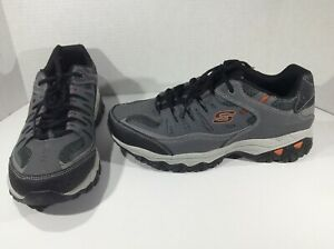 SKECHERS-Mens-After-Burn-M-Fit-Gray-Running-Athletic-Shoes-Sz-12-XW-F11-352