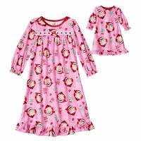 Girls 2t Elf On The Shelf Nightgown With Matching Doll Nightgown Cute Lk