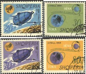 Albanien-1067-1070-kompl-Ausg-gestempelt-1966-Mondsonde-Luna-10