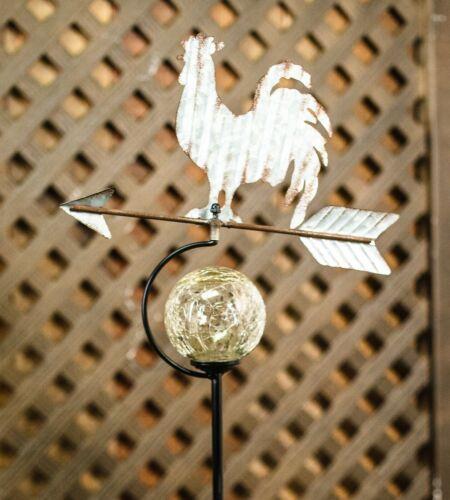 Animal Weathervane Solar Stake