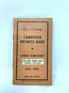 Vintage-1952-53-Cambridge-Mass-Business-Guide-Book-and-Street-Directory