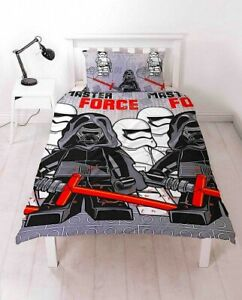 Details zu Einzelbett Lego Star Wars Sieben Grau Rot Reversible Bettwäsche  Set