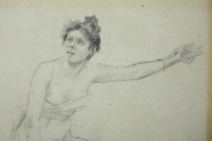 Paul-Joseph-Jamin-1853-1903-Study-Of-Young-Woman-Drawing-Genuine-Jules-Lefebvre