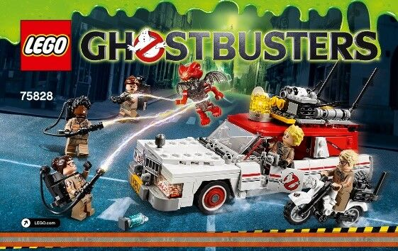 LEGO 75828: GHOSTBUSTERS 2016 MOVIE - ECTO 1 & 2 - NUOVO
