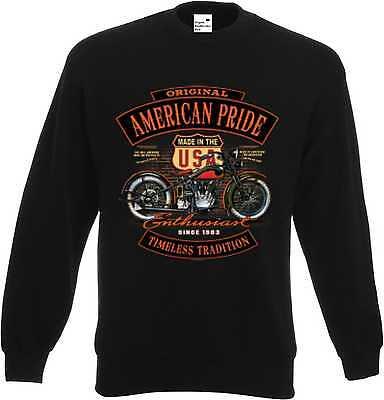 Sweatshirtjacke schwarz V Twin HD Biker Chopper/&Oldschoolmotiv Modell Enthusiats