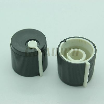 17x15mm Black Plastic Pointer Knob FR DJ Mixer effect pedal 5.5mm Shaft Lot*10