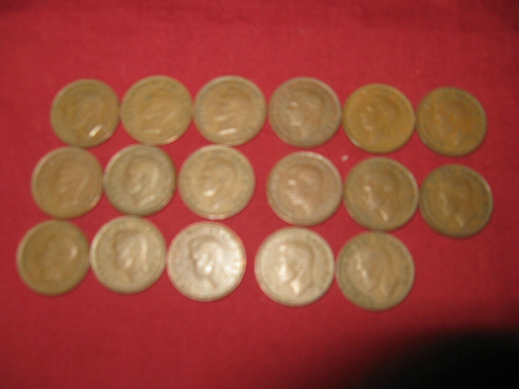 COMPLETE SET OF CANADA KING GEORGE VI PENNIES 1937-1952 17 DIFFERENT DATES