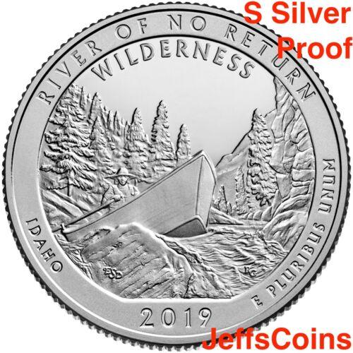 2019 S Frank Church River of No Returns Wilderness Area 99/% SILVER Proof Quarter