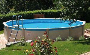 Pool Schwimmbecken extra (!!!) rund 4,60 x 1,32 m Stahlwand ...