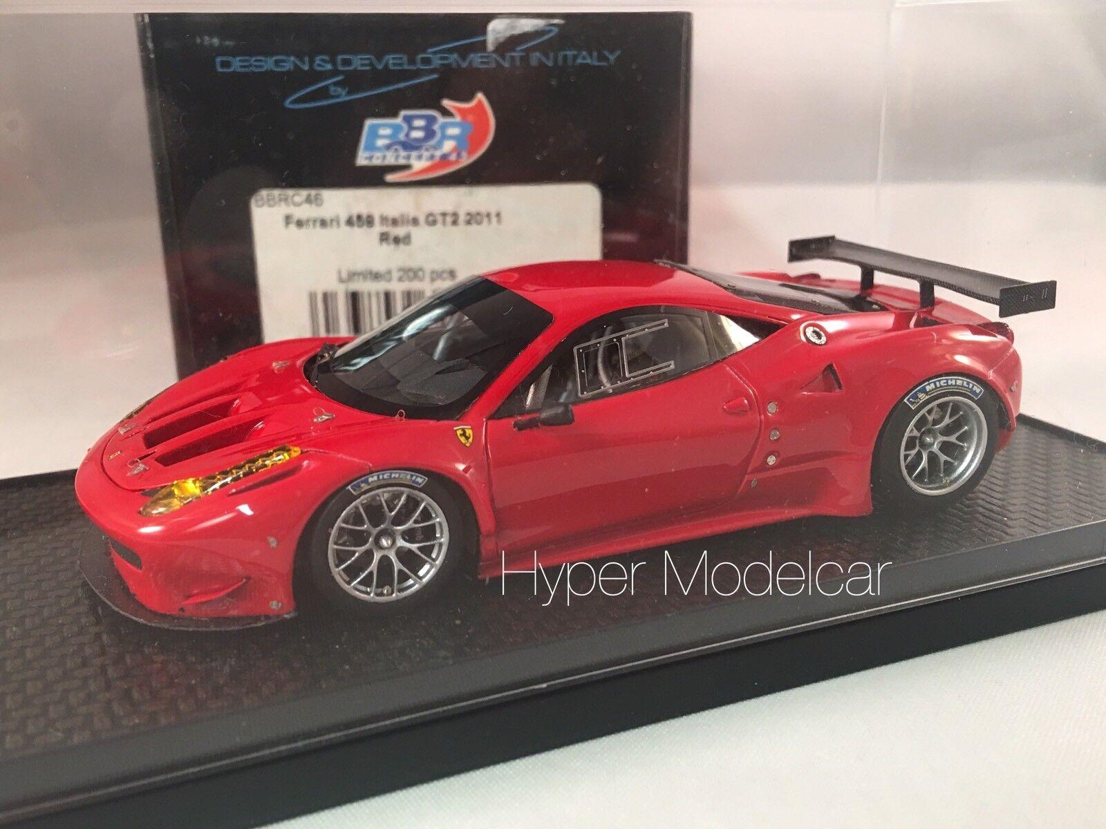 BBR Models 1 43 Ferrari 458 Italia GT2 2011 rouge Art. BBRC46