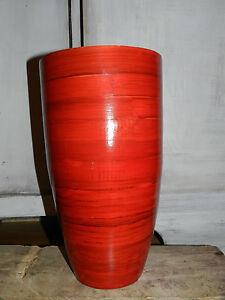 Vase aus Bambus Hochglanzlackiert 34 cm - Berlin, Deutschland - Vase aus Bambus Hochglanzlackiert 34 cm - Berlin, Deutschland