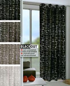 mauer135 245cm verdunkelungsvorhang senschal bergardine blackout vorhang schal ebay. Black Bedroom Furniture Sets. Home Design Ideas
