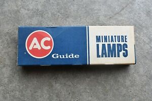 New Old Stock Box of 10 AC Guide L1155 Miniature Lamps Light Bulbs 12V Corvette
