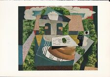 "1955 Vintage ""STILL LIFE in LANDSCAPE"" PICASSO Color Art Plate offset Lithograph"