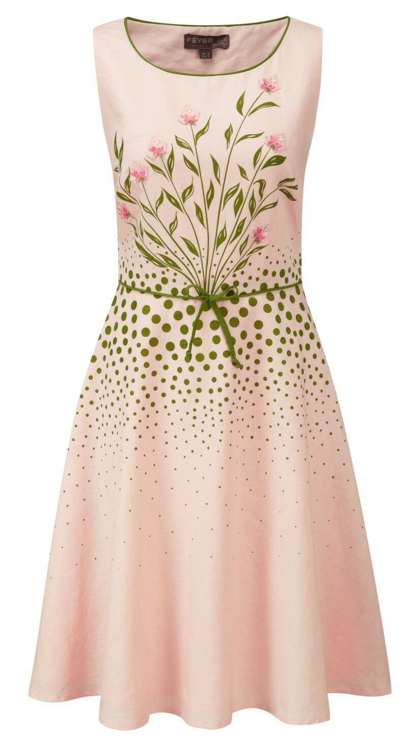 NEW  Vintage Inspired Fever London Pastel Pink Emilia Prom Dress Size 10