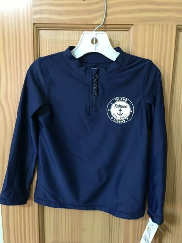 Many Sizes NWT Carter/'s Navy Blue Rash Guard Shirt Top Boy UPF 50