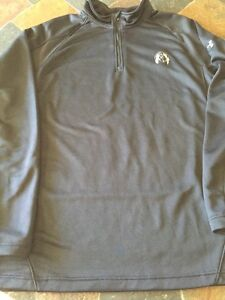 Under-Armour-Mens-Coldgear-Long-Sleeved-Quarter-Zip-Black-Shirt-Jacket-Pullover